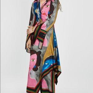 Zara Face Print Dress